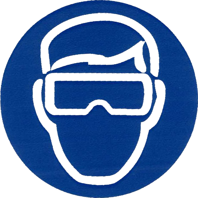 Safety vector wear. Science goggle icon nsf
