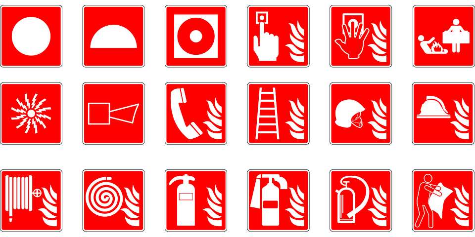 Safety vector life. Top tips for fire
