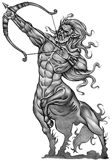 Sagittarius drawing. Tattoos designs png tat