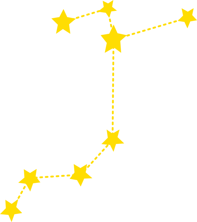 Sagittarius drawing constellation. Computer icons can stock