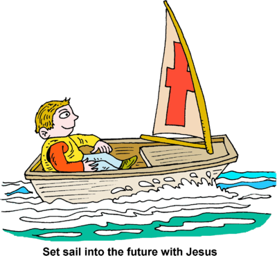 Sail clipart sale boat. Image man in small