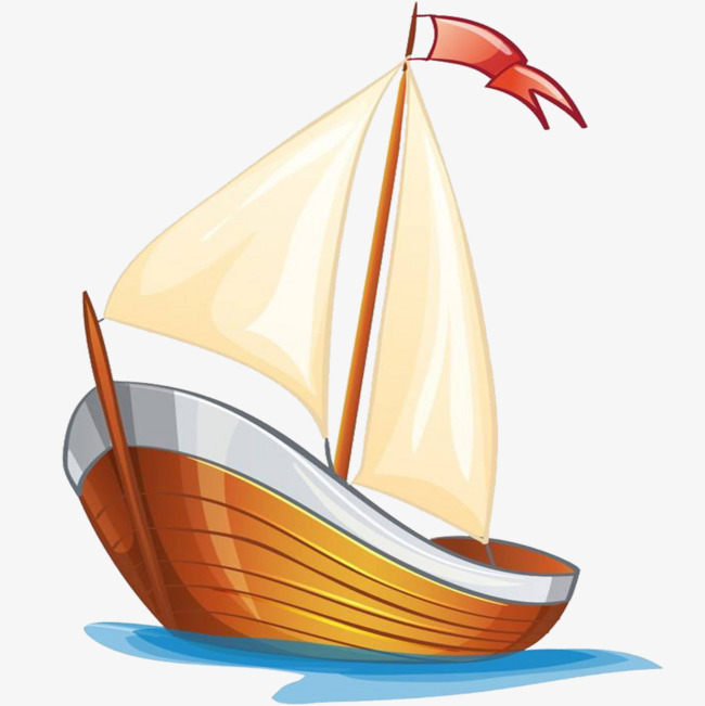 Sail clipart. Set sailboat hand drawn