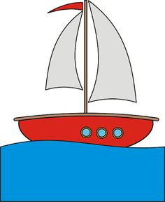 Sail clipart drift boat. Fish in water clip