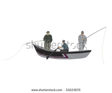 Fly fishermen guide stock. Sail clipart drift boat clipart royalty free download