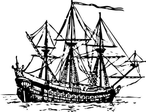 Sail clipart fleet ship. Genoese carrack clip art