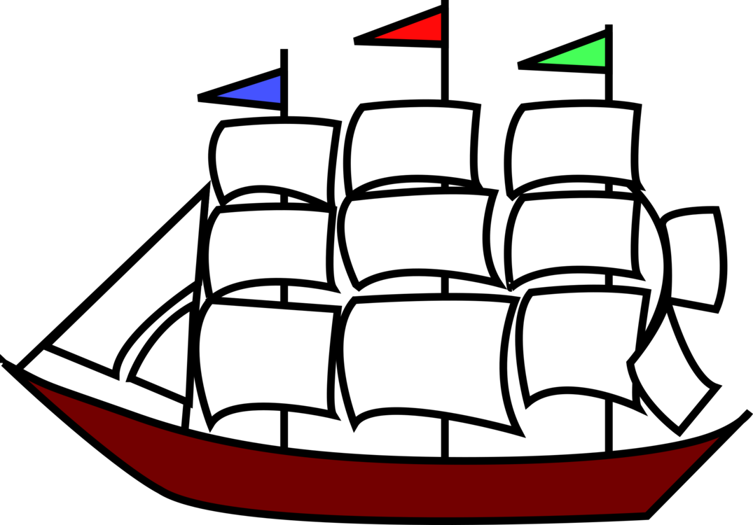 Sail clipart fleet ship. Old sailing ships caravel
