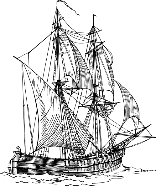 Sail clipart fleet ship. Free clipper ships images