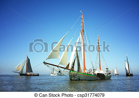Sail clipart fleet ship. Blue color image of picture free library