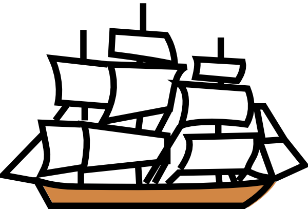 Free large boat . Sail clipart fleet ship vector freeuse library