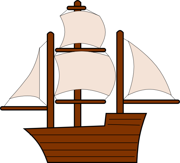 Cartoon ship png. Unfurled sailing clip art