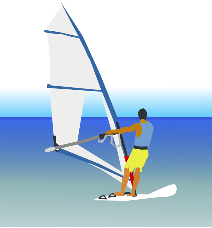 Sail clipart sailing sport. Windsurfing sports free commercial