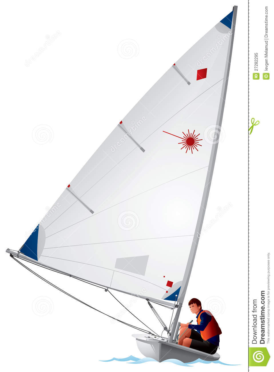 Laser class sailboat stock. Sail clipart sailing sport jpg library library