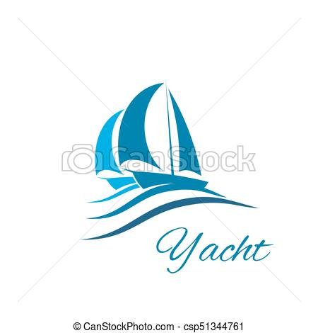 Yacht boat wave icon. Sail clipart sailing sport svg free library