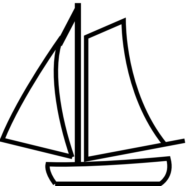 Sail clipart sale boat. Sailing silhouette at getdrawings svg black and white stock