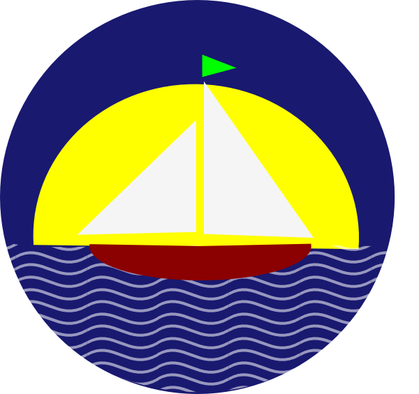 Sail clipart sunset. Boat at clip art