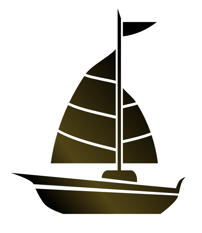 Sail clipart sunset. Free sailboat silhouette download