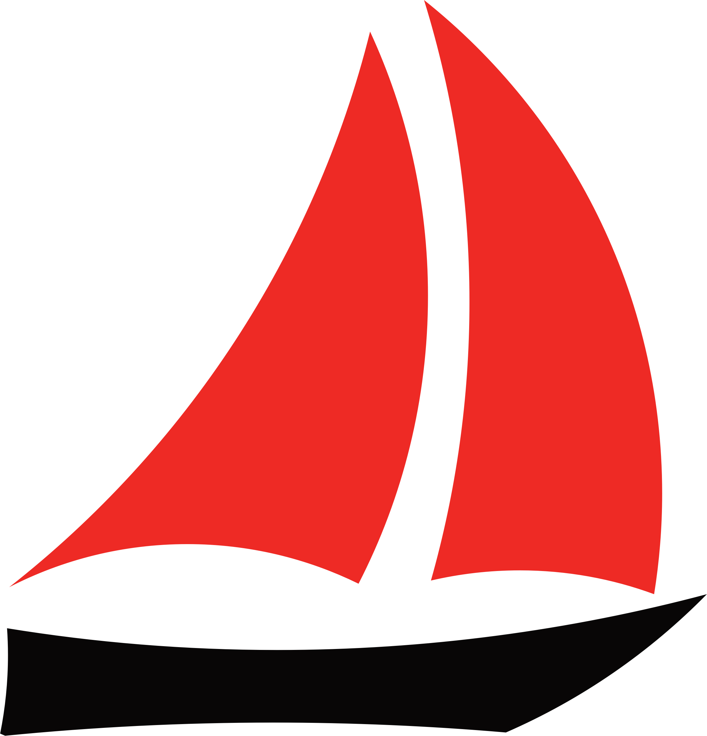 Sail clipart sunset. Red sailboat great free