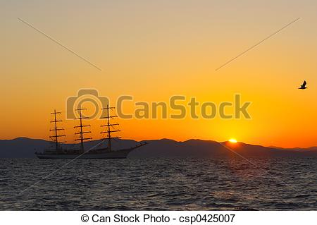 Sail clipart sunset. Nice on the picture jpg black and white stock