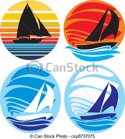 Sail clipart sunset. Yacht and sailing sea image library download