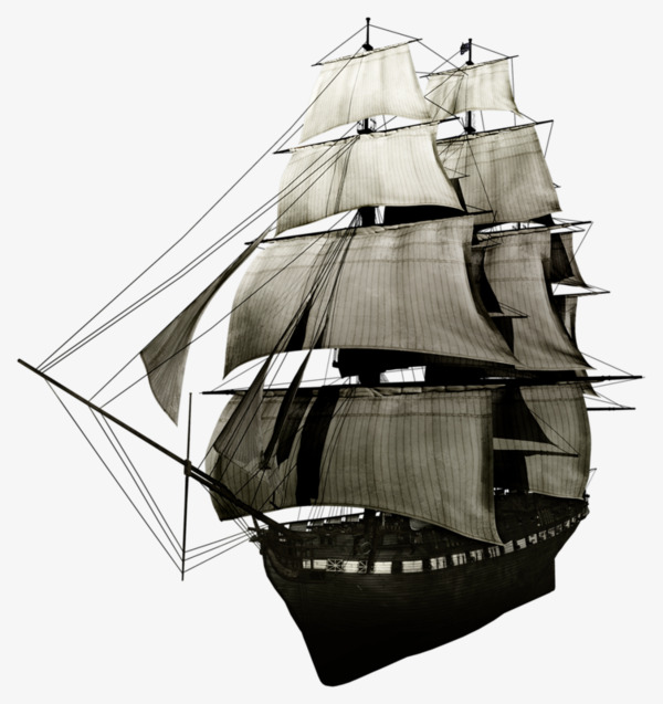 Ancient sailing sailboat mast. Sail clipart tall ship graphic black and white library