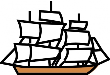Sail clipart tall ship. Sailing clip art arts clip freeuse download