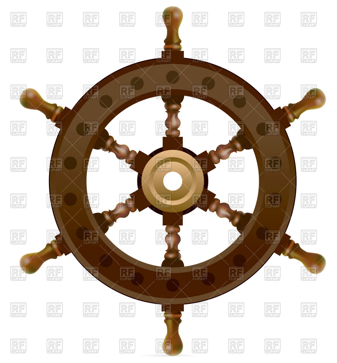 Sail clipart wheel. Steering control vector image banner