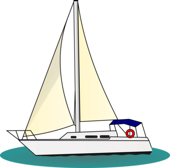 Sail clipart yatch. Sailboat sailing yacht free