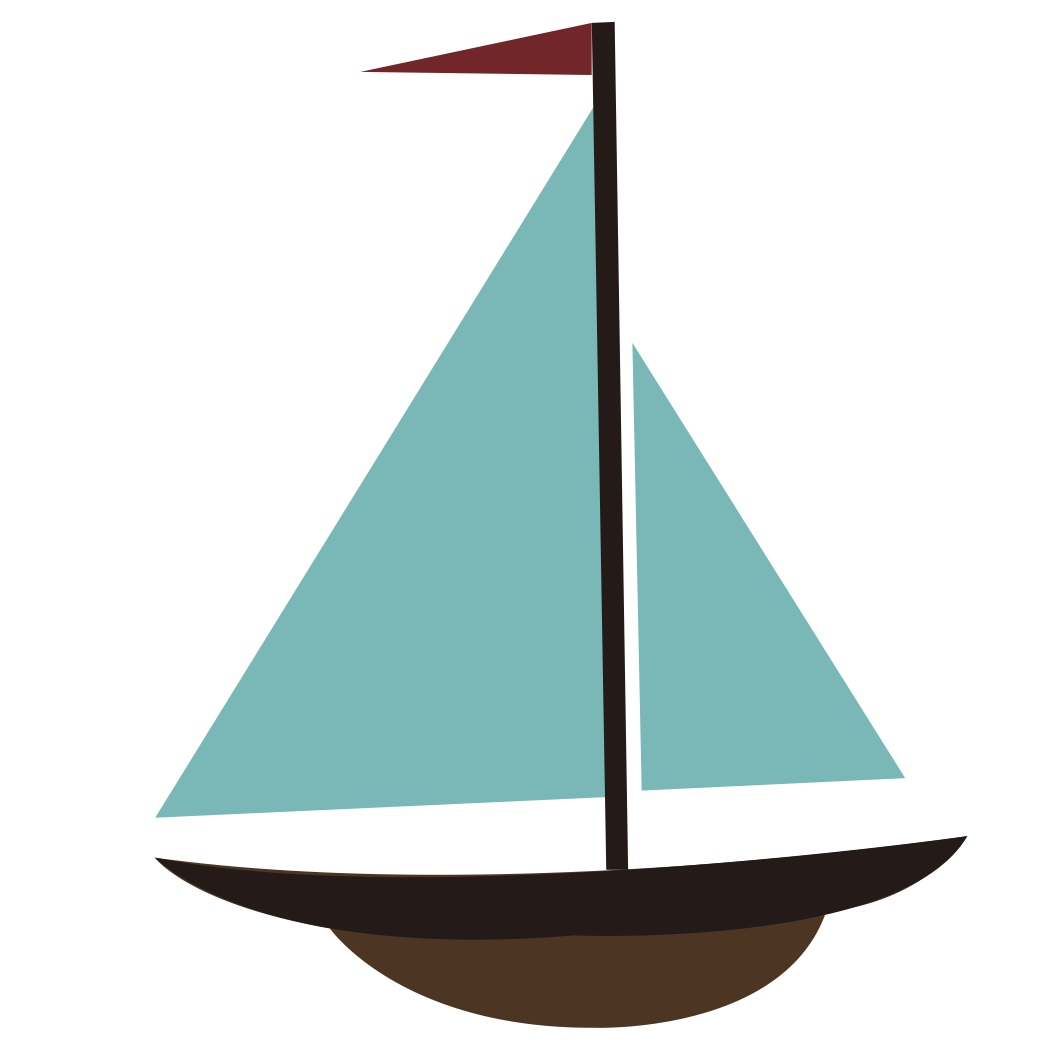 Sail clipart yatch. Yacht simple boat free