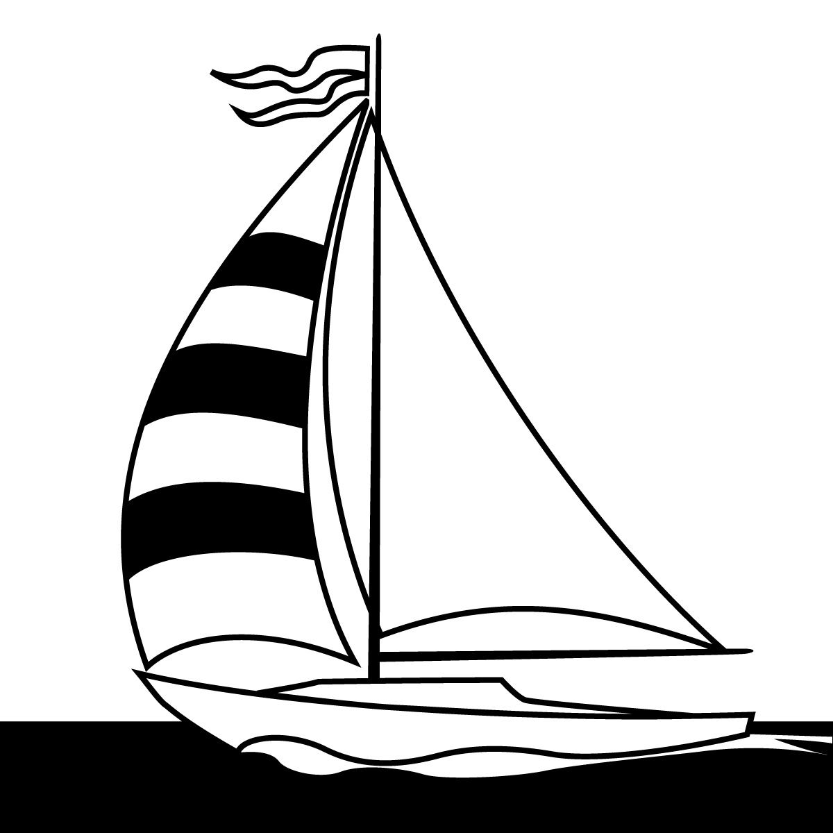 Sail clipart yatch. Sailing boat drawing of