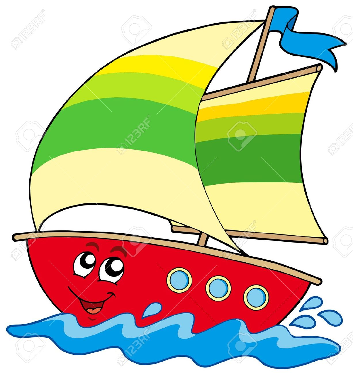 Sail clipart yatch. Yacht at getdrawings com