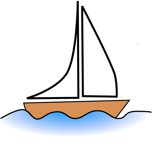 Sailboat clipart. Sail boat