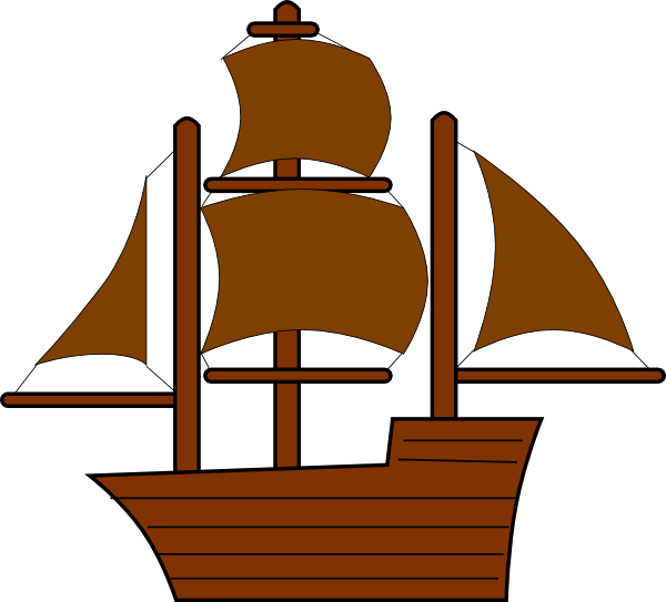 Sailboat clipart brown. Pirate ship clip art