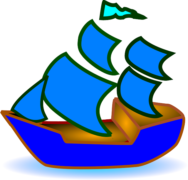 Sailboat clipart flag. Free photo modell blue