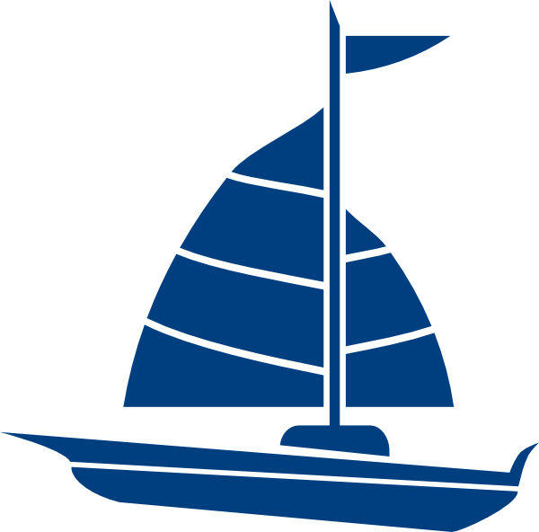 Sailboat clipart sailing. Navy blue