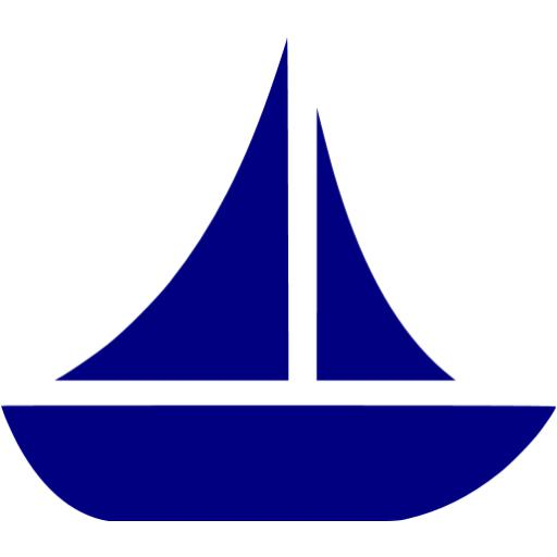 Sailboat clipart navy blue sailboat. Boat icon free icons