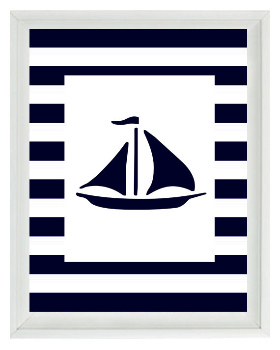 Sailboat clipart navy blue sailboat. Nautical nursery wall panda