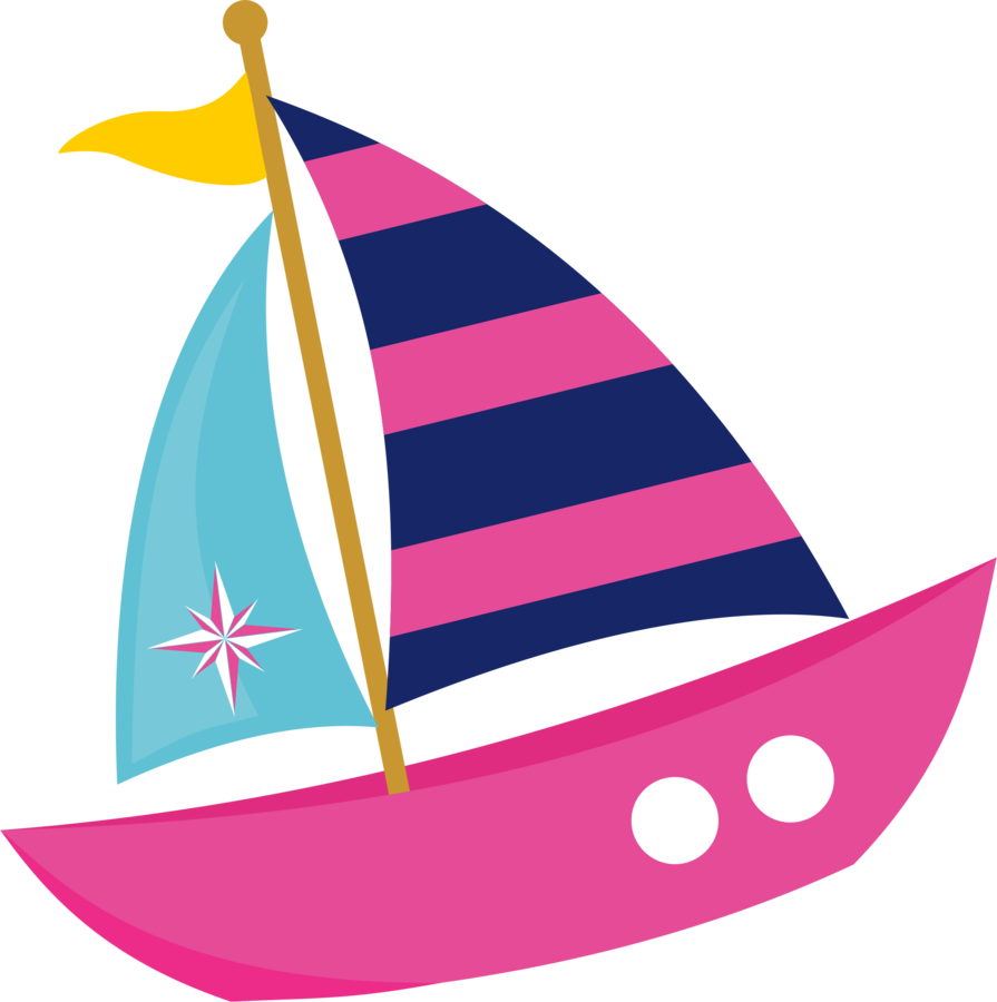 sailboat clipart pink boat