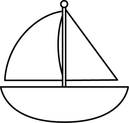 Sailboat clipart outline. Boat seafood image clip