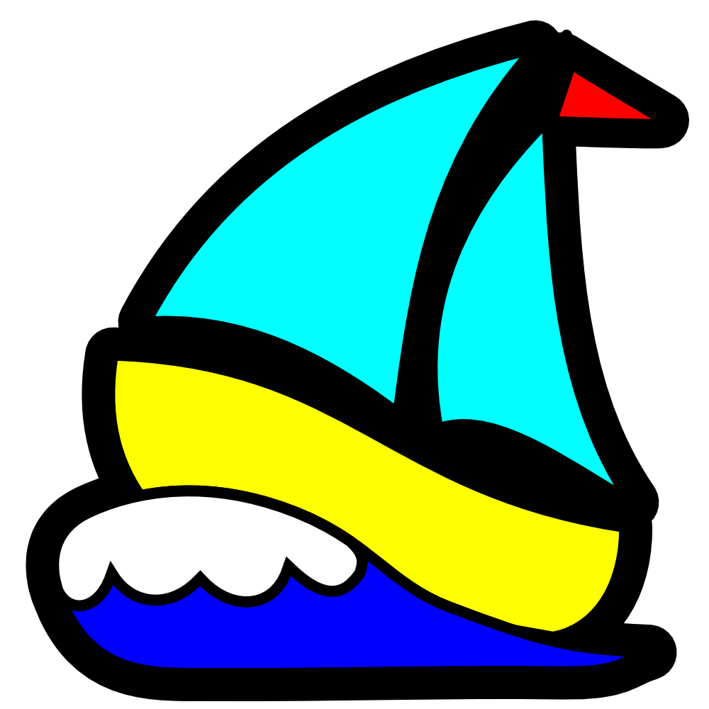 Sailboat clipart water transportation. Onlinelabels clip art icon