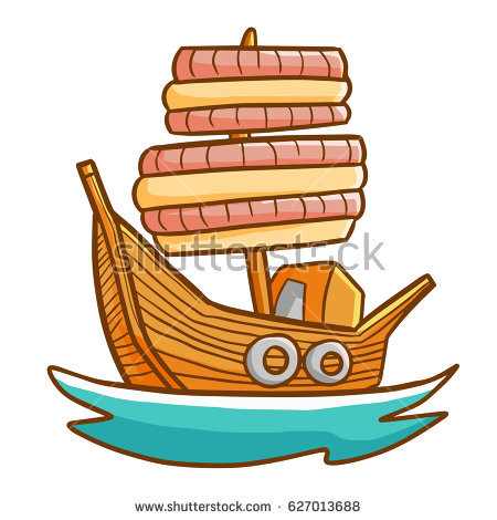 Sail clipart fleet ship. Funny great wooden sailing picture stock