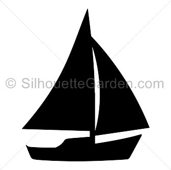 Sailboat png silhouette.