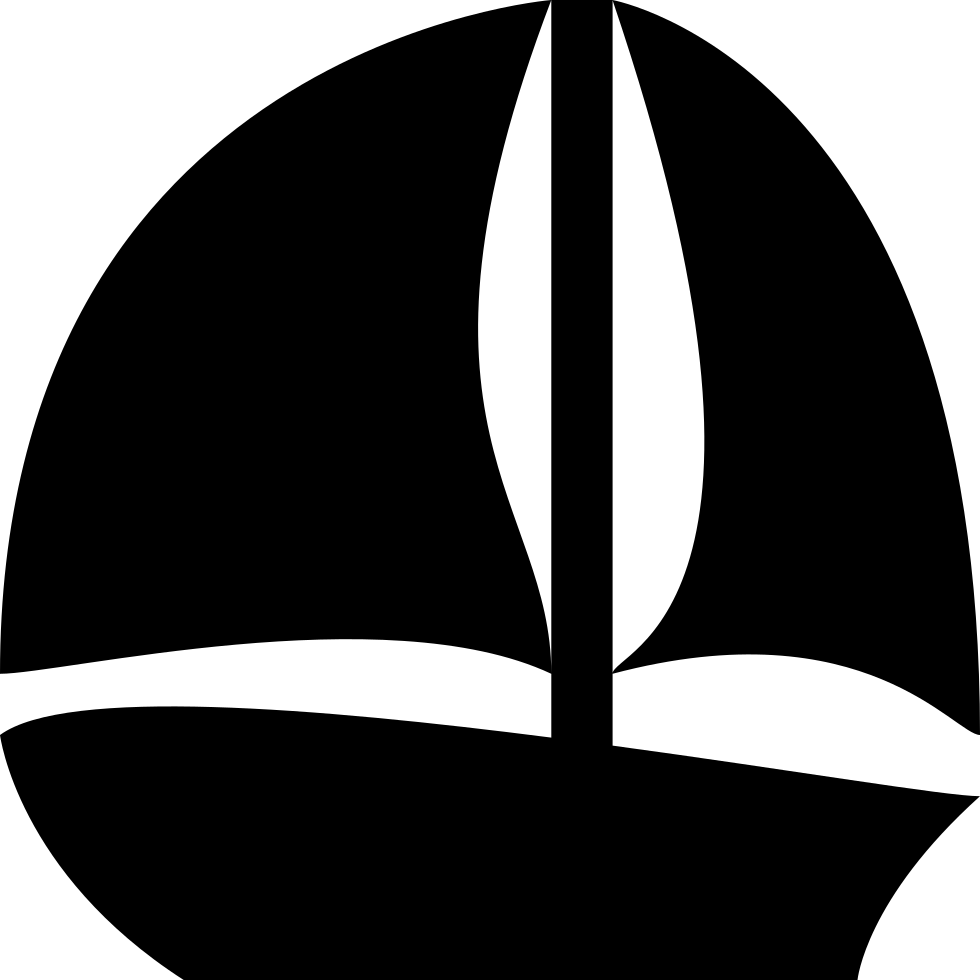 Sailboat silhouette png. Black svg icon free