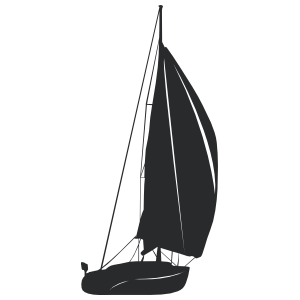 Sailboat silhouette png. Brown boat wall decal