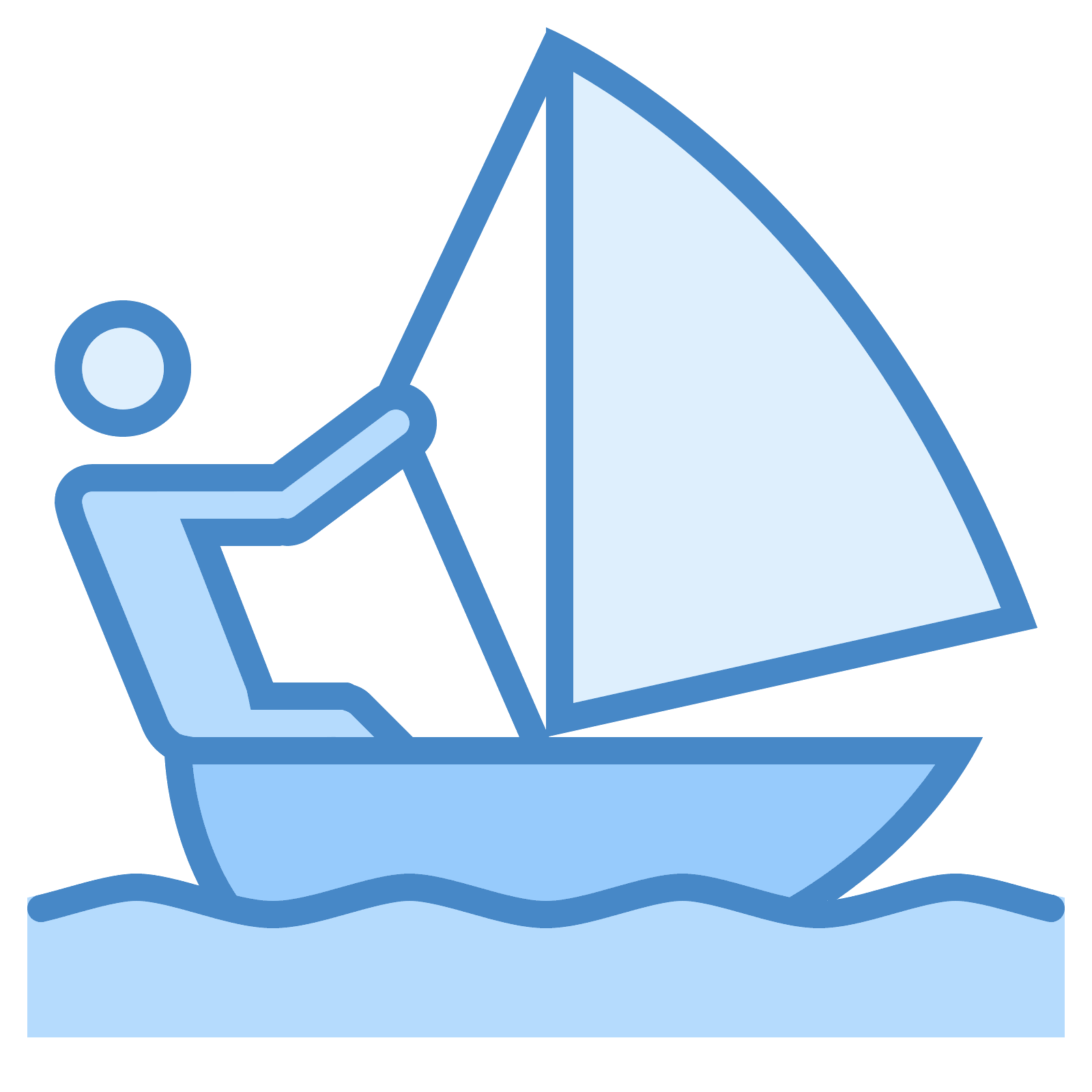 Sailing vector. Icon free download png