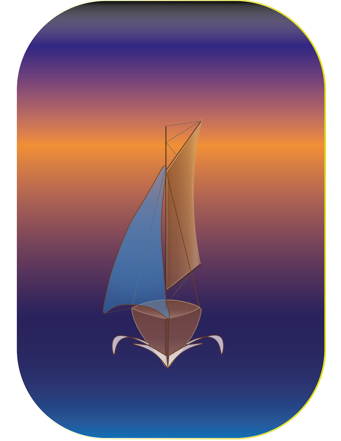 On behance a of. Drawing sailboats vector banner library library