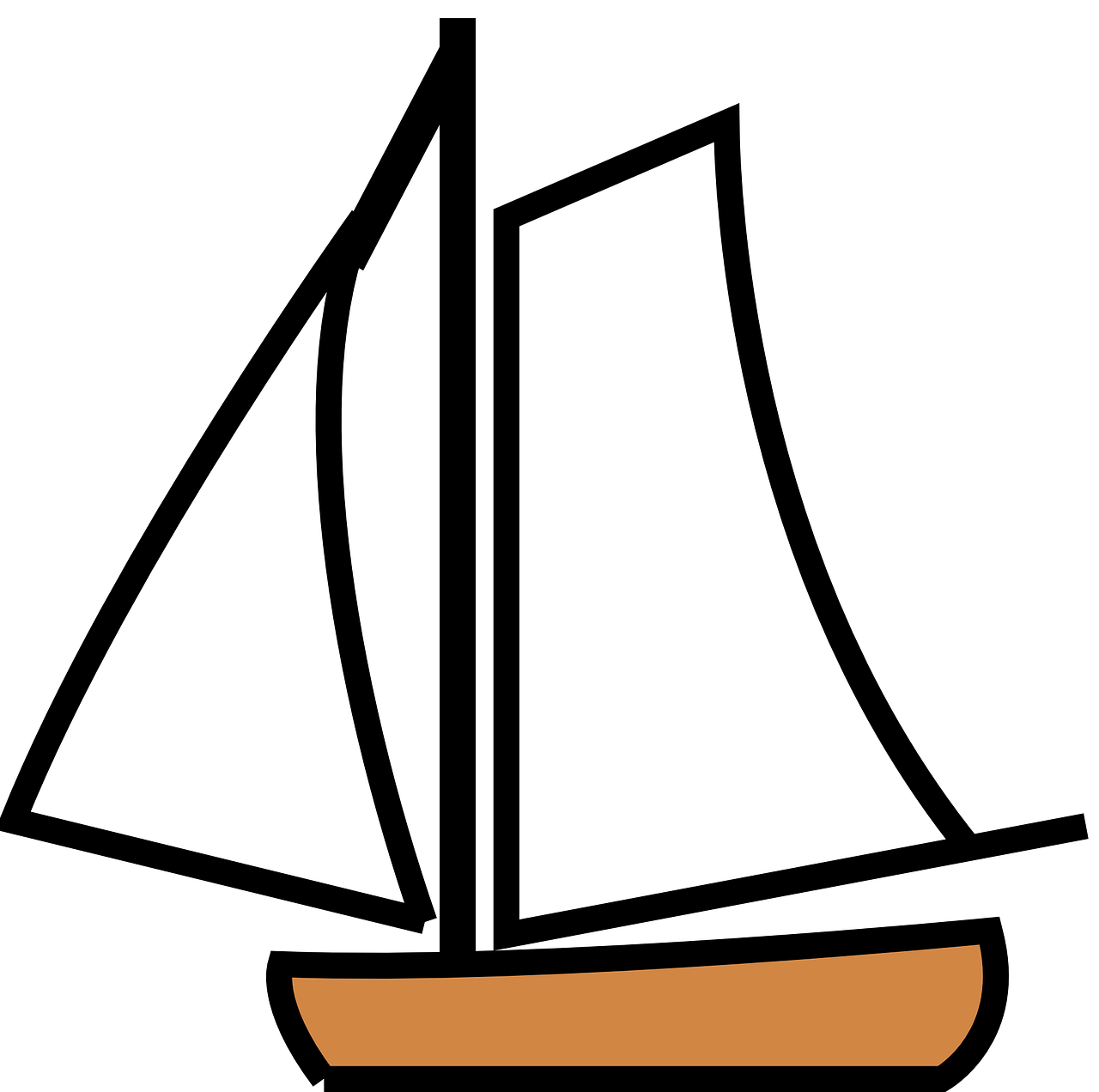 Sailing vector broken ship. Boat sailboat sail sailor