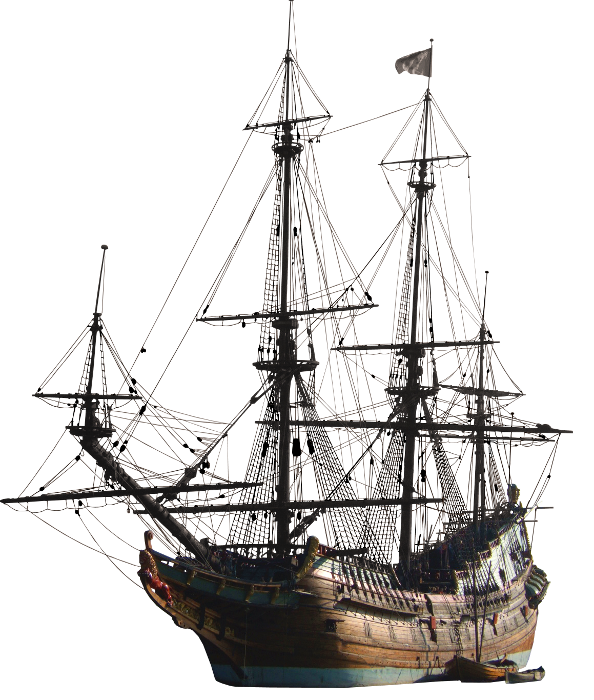 Schooner drawing endeavour ship. Old by gioja thc