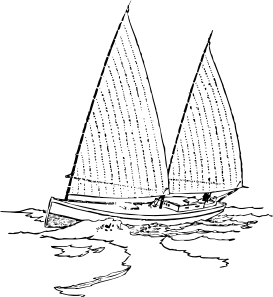 Sailing vector dhow. Sailboat clip art at
