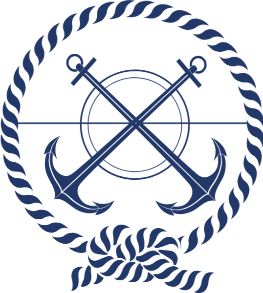 Sailing vector emblem design. Free online customs symbol