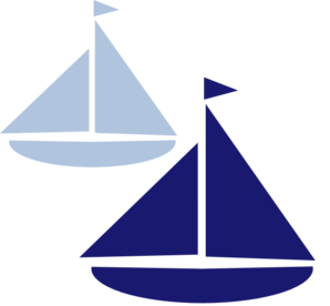 Sailing vector nautical tattoo. Sailboat silhouette clip art